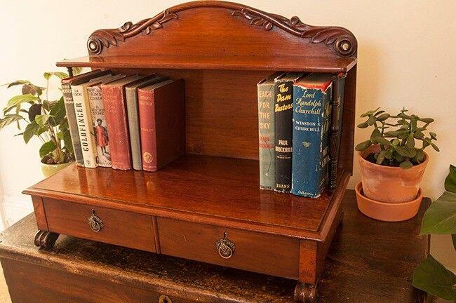 Antique Mahogany Desk Tidy/ Book Shelf - Antique Mahogany Desk Tidy/ Book Shelf In Polwarth, Edinburgh