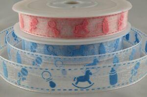 15MM Sheer Baby Design Printed Ribbon   (3 meters)