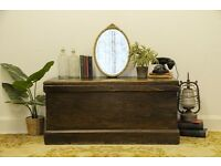 Antique Victorian Pine Kist/ Chest/ Trunk