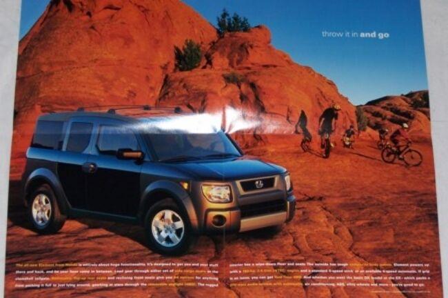 2003  Honda  Element original sales brochure poster