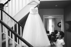 Alfred sung strapless wedding gown/dress
