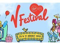 V FESTIVAL TICKETS SUNDAY DAY PASS CHELMSFORD