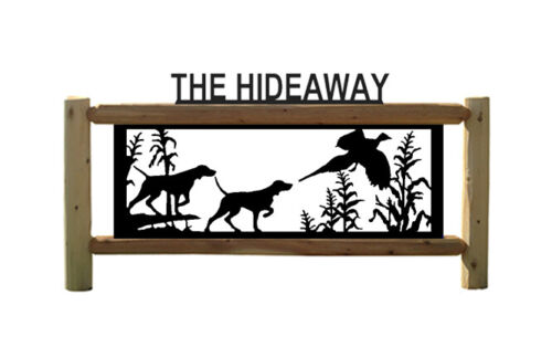 POINTERS -DOGS - PHEASANTS - HUNTING SIGN - PERSONALIZE SIGNS