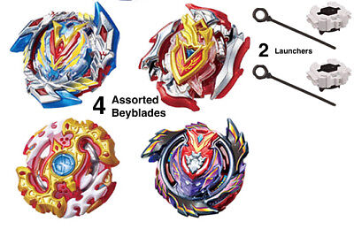 Set Lot of 4 Assorted Beyblades + 2 Launchers Burst Series - Legend | Xeno USA