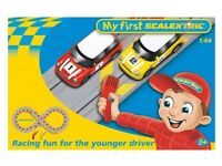 Scalextric Set Mini Cars With Figure Of Eight Circuit Great for Drivers Over 3 Years Old