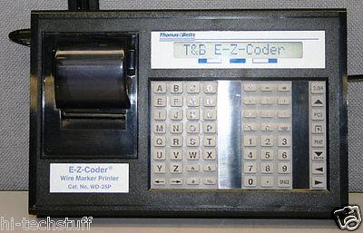 Thomas Betts Wd-25p E-z-coder Wire Marker Printer