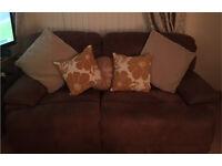 Recliner sofa faux buffalo skin