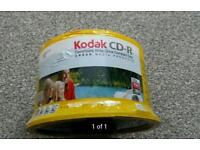 Pack of 50 kodak cd-r new sealed