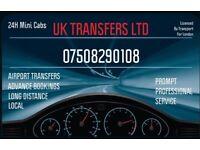 Airport Transfers - LONDON - Taxi - Mini Cab - Heathrow - Gatwick - Stanstead - London City Airport
