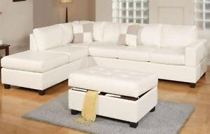 NEW! Leather Sectional, 3 Colors! Same Day Pickup in Kamloops!