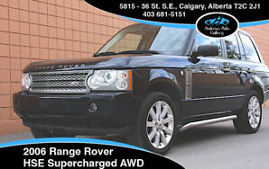 2006 Range Rover HSE Supercharged Full Size SUV *Low km, Clean!*