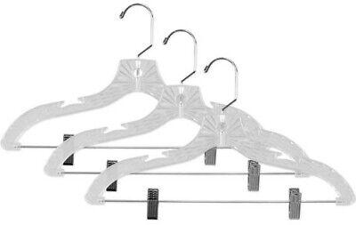 Sunbeam NEW 3PK Pack Crystal Hanger Hangers Skirt Pants Clips Set of 3 - PH01311