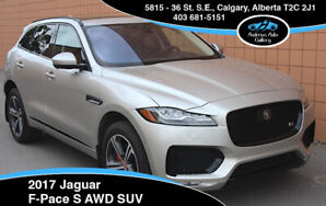 2017 Jaguar F Pace S AWD SUV *Supercharged, Warranty, Stunning!*