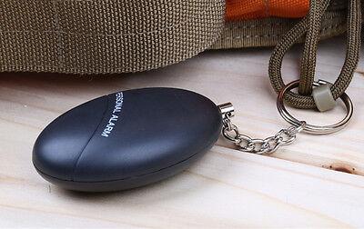 Extrem Laut 120 dB Sicherheit personal Alarm Taschenalarm Ueberfallalarm schwarz