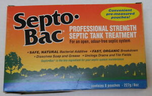 SeptoBac septic tank treatment 10 new pouches