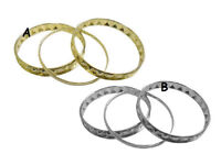 3pce Bangle Set in Asst Gold & Silver colours - JTY254