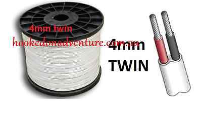 ELECTRICAL CABLE 15 MT x 4mm MARINE GRADE TINNED 2-CORE TWIN WIRE  Boat/Caravan