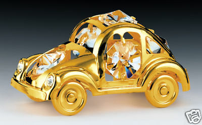 MINI CAR~24K GOLD PLATED FIGURINE WITH BEST~*~AUSTRIAN