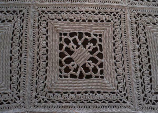 "True Vintage Venetian Lace Tablecloth Victorian Era Ecru Cotton Crochet 72"""