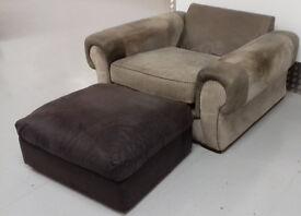 Large Arcmchair & Footstool