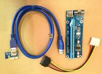 PCI-E 1x-16x Powered Riser card & USB 3.0 cable pack NEW*bitcoin