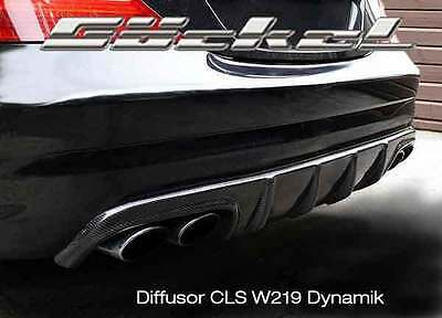 Mercedes CLS 219 Heck Diffusor für AMG Stylingpaket li-re + Endrohre 3 Finnen  B