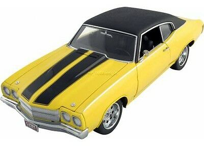1970 CHEVY CHEVELLE 1/18 DIE CAST YEL CHEAP STREET BY LANE COLLECTABLES WCC604