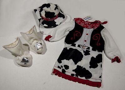 MINIWEAR GIRLS SIZE 36M 3 NWT COWGIRL COSTUME 3 PC HALLOWEEN BOOTS HAT  NEW - Halloween Costume Cowgirl Boots