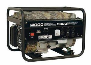 Champion (46553) 3000W 196cc Generator w/warranty $399.99