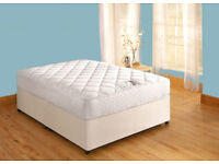 Double bed with orthopaedic deluxe mattress