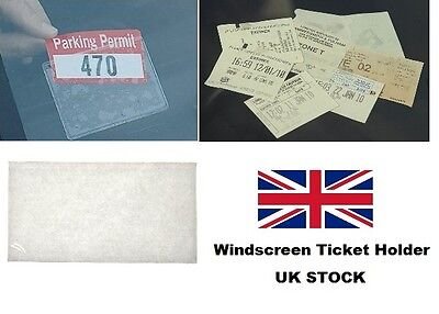 Self Adhesive Backed Windscreen Ticket Holder for Parking Permit Badge