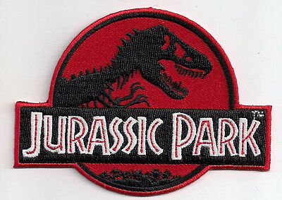 Red Jurassic Park Film Logo - Uniform Patch Kostüm Aufnäher - neu