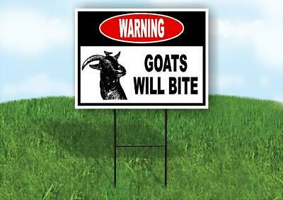 Warning Goats Will Bite Yard Sign Road With Stand Lawn Sign