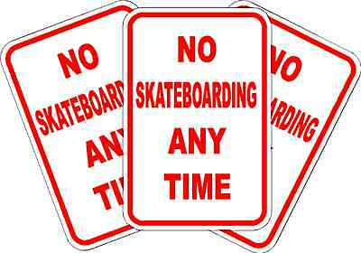 No Skateboarding Anytime Parking Sign New Quality Aluminum Exterior Signs