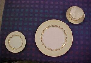 Minton Gold Laurentian set