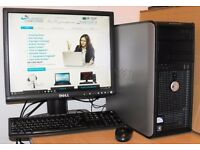 Dell 380 Windows 10 PC Dual Core Desktop Computer Complete 2GB DDR3 RAM 160GB HDD Microsoft Office