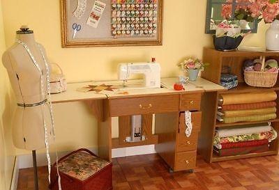 ARROW 98900 Auntie Oakley Sewing Cabinet w/AIR LIFT OAK (Arrow Air Lift Sewing)