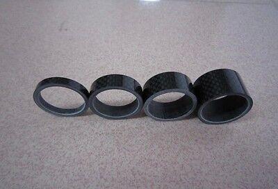 1 1 8  Carbon Fiber Bike Mtb Headset Stem 5 10 15 20Mm Washer Spacer Set Kit