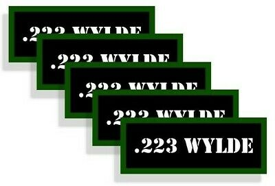 223 WYLDE Ammo Decal Sticker bullet ARMY Gun Can Box safety Hunting 2 pack RD