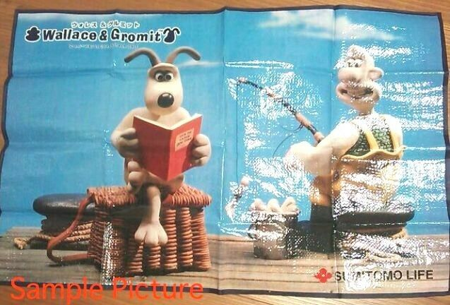 Wallace & Gromit Picnic sheet 24×36inches Sumitomo Life JAPAN Ardman ANIME