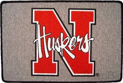 Nebraska Huskers - Door Mat Rug - NEW - FREE SHIPPING