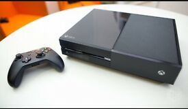Xbox one black with controller black.