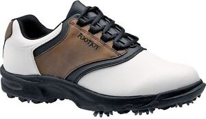 FOOTJOY-GREENJOYS-GOLF-SHOES-CLOSEOUT-WHITE-BROWN-45516-MENS-NEW