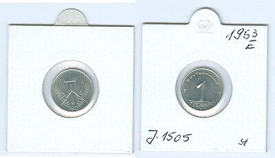 DDR 1 Pfennig 1953 E  stempelglanz