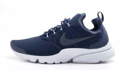 925e36d2c5a31 New Sz 9 Nike Presto Fly Men 908019-403 Running Shoe Navy Blue Mesh Sneaker