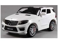 Mercedes Ml63 in White, Or Black Ride-On Parental Remote Control, Self Drive