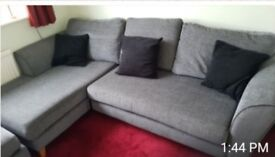 L Shape Sofa with footstool for sale