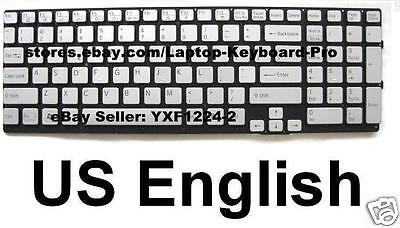 US English Silver Keyboard for SONY SVS131A11L SVS13115FDS