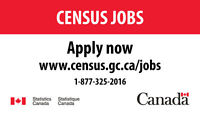 Statistics Canada is hiring staff for the 2016 Census