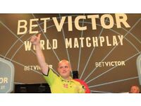 2 X betvictor world match play Blackpool winter gardens